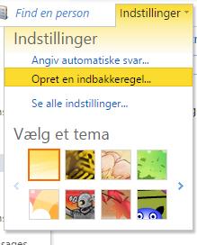 Outlookmail.dk indstillinger