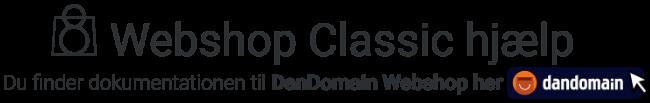 Klik for at gå til vores DanDomain Webshop dokumentation